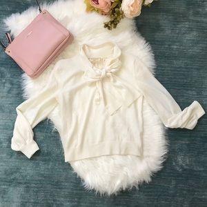 Moulinette Soeurs Ivory Bow Front Cardigan Size S